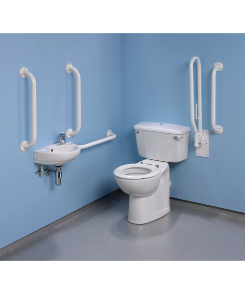 Alternate image of Twyford Doc.M Standard Value Pack With White Grab Rails And Seat