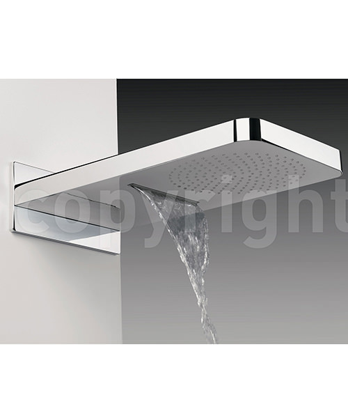 Additional image of Crosswater Revive Waterfall Fixed Shower Head