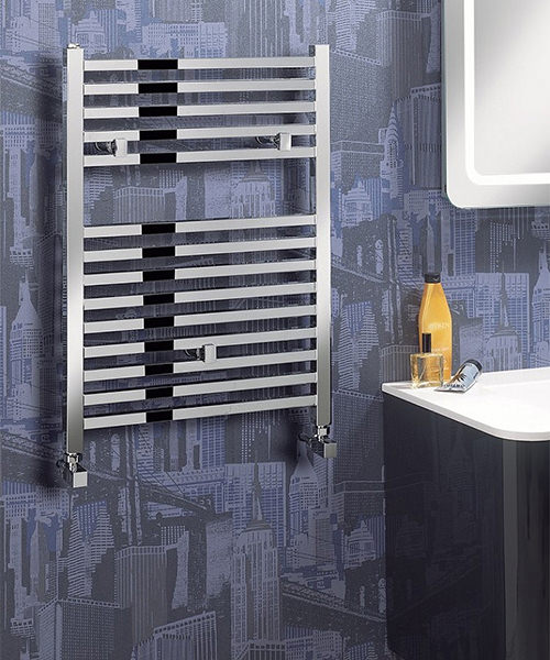 Alternate image of Bauhaus Magnum 500 x 690mm Chrome Finished Straight Towel Rail