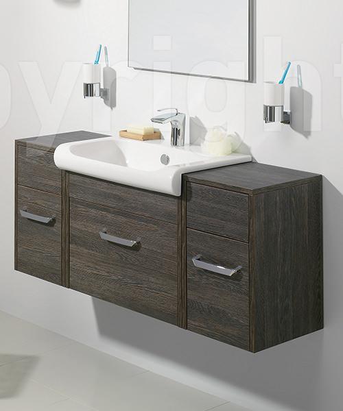 Additional image of Bauhaus Essence Ebony 400mm Single Drawer Unit And Basin