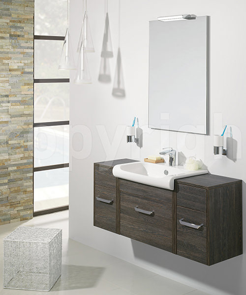 Additional image of Bauhaus Essence Ebony 600mm Single Drawer Unit And Basin