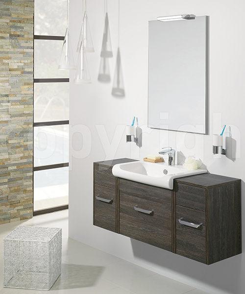 Additional image of Bauhaus Essence Ebony 600mm Single Drawer Unit And Basin