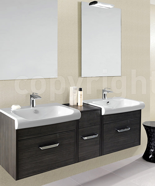Additional image of Bauhaus Essence Anthracite 400mm Single Drawer Unit And Basin