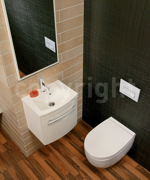 Additional image of Bauhaus Stream II 510mm Wall Hung WC Pan And Soft Close Seat