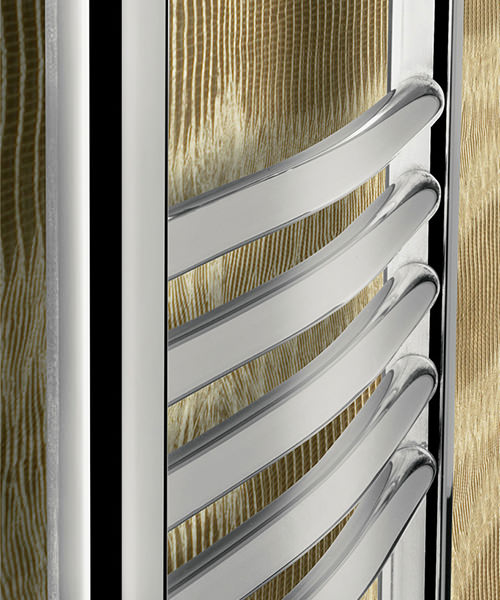 Alternate image of Bauhaus Stream 500 x 1110mm Curved Panel Towel Rail