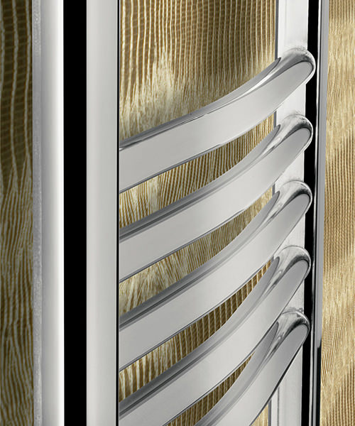 Alternate image of Bauhaus Stream 500 x 1430mm Curved Panel Towel Rail