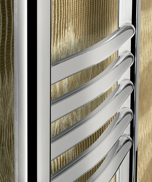 Alternate image of Bauhaus Stream 500 x 1700mm Curved Panel Towel Rail