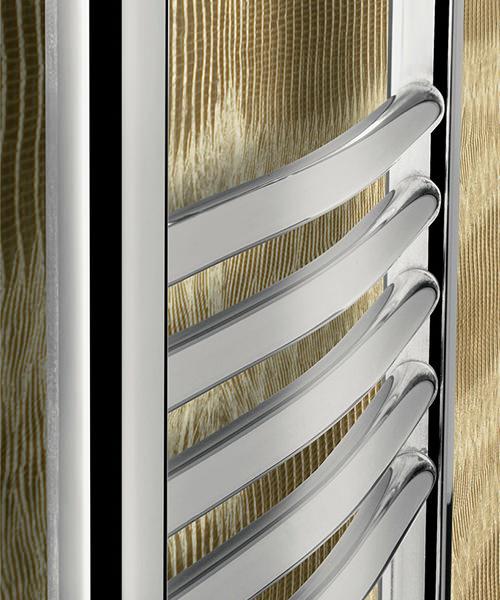 Alternate image of Bauhaus Stream 600 x 1110mm Curved Panel Towel Rail