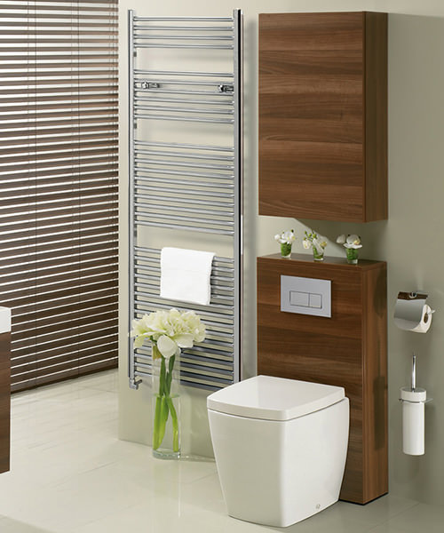 Alternate image of Bauhaus Design 500 x 690mm Flat Panel Chrome Towel Rail