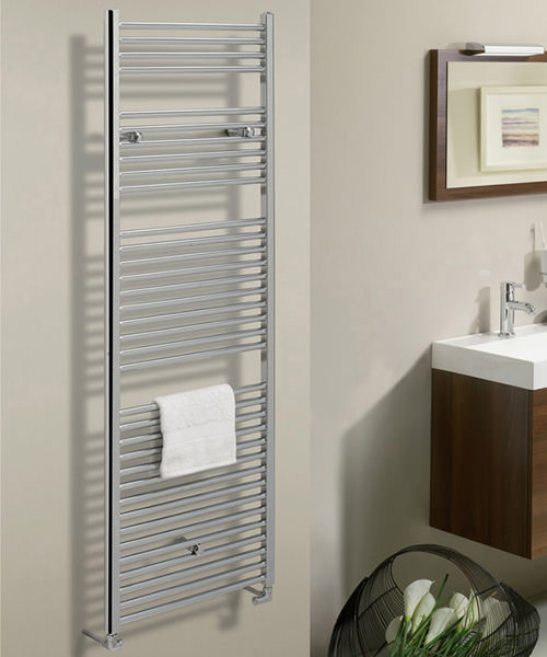Additional image of Bauhaus Design 500 x 690mm Flat Panel Chrome Towel Rail
