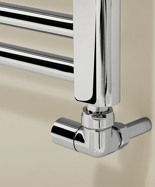 Alternate image of Bauhaus Design 500 x 1110mm Flat Panel Chrome Towel Rail