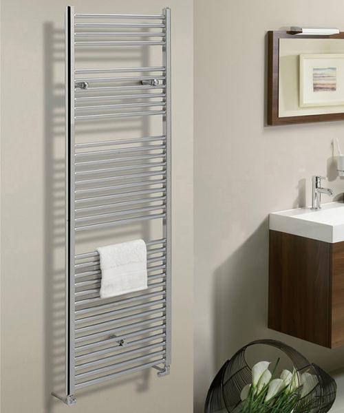 Additional image of Bauhaus Design 500 x 1430mm Flat Panel Chrome Towel Rail
