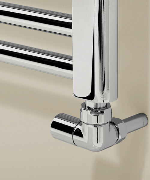 Alternate image of Bauhaus Design 500 x 1700mm Flat Panel Chrome Towel Rail