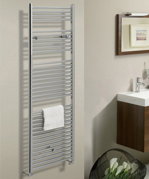 Additional image of Bauhaus Design 500 x 1700mm Flat Panel Chrome Towel Rail