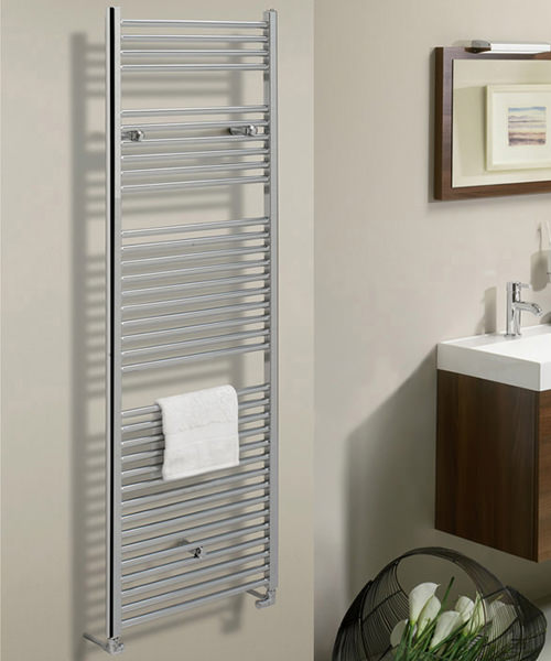 Additional image of Bauhaus Design 600 x 690mm Flat Panel Towel Rail
