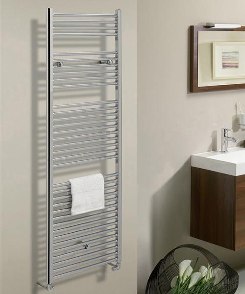 Additional image of Bauhaus Design 600 x 1430mm Flat Panel Towel Rail
