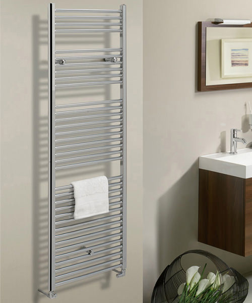 Additional image of Bauhaus Design 600 x 1700mm Flat Panel Towel Rail