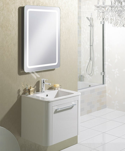 Alternate image of Bauhaus Celeste 600mm Single Drawer Basin Unit