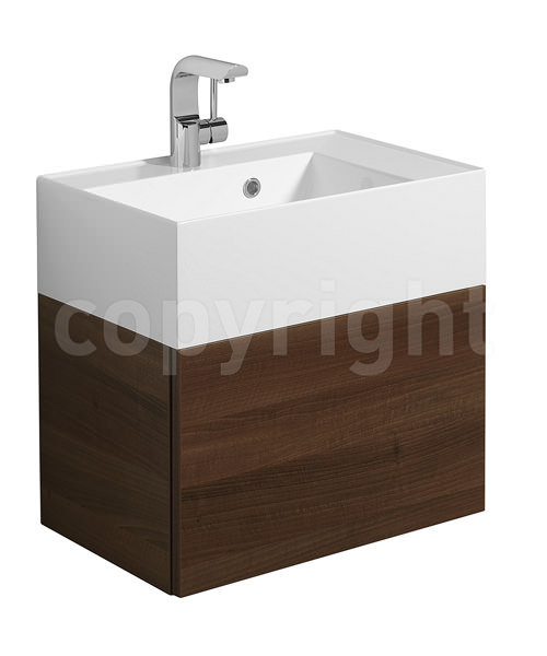Additional image of Bauhaus Elite 500mm Square Vanity Basin With Overflow