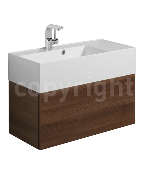 Additional image of Bauhaus Elite 700mm Square Vanity Basin With Overflow