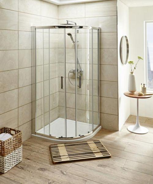 Alternate image of Beo Framed 800mm Double Door Quadrant Shower Enclosure