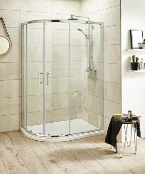 Alternate image of Beo Framed 1200 x 800mm Offset Quadrant Shower Enclosure