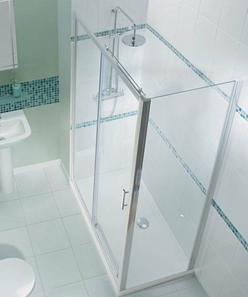 Alternate image of Beo Framed Single Sliding Shower Door 1000mm