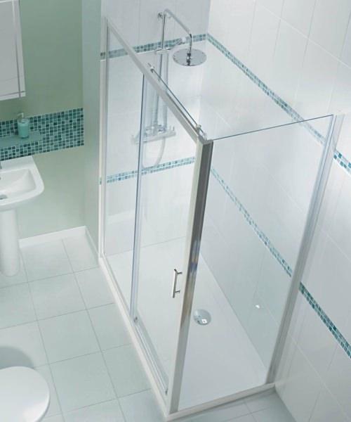 Alternate image of Beo Framed Single Sliding Shower Door 1100mm
