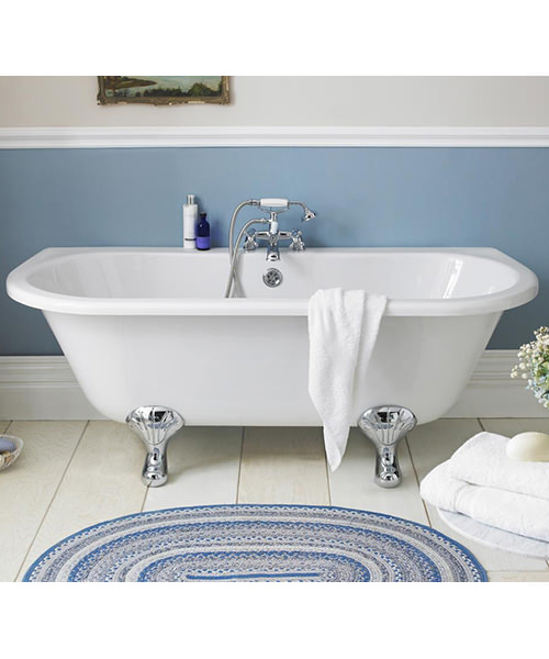 Additional image of Beo Royal 1700 x 745mm Freestanding Acrylic Bath With Corbel Legs