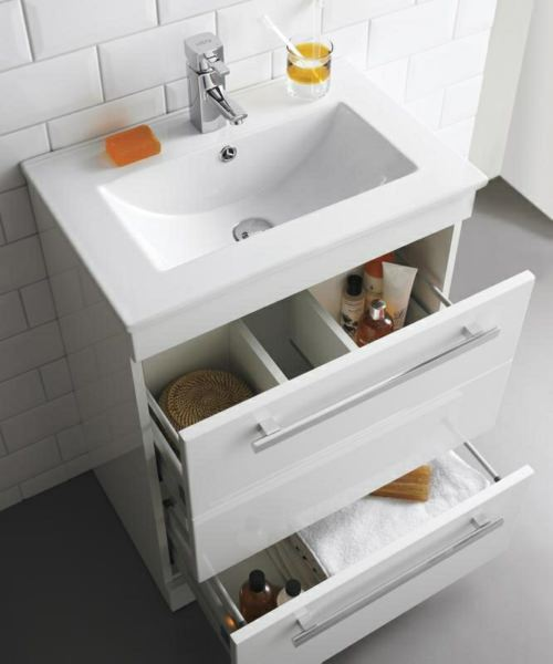 Additional image of Beo Warner 600mm Floor Standing 2 Drawer Vanity Unit And Basin