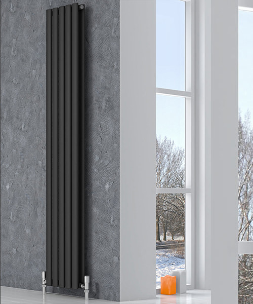 Additional image of Reina Neva Anthracite 295 x 1800mm Single Panel Vertical Radiator