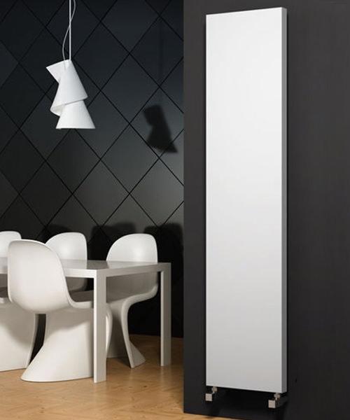 Alternate image of Reina Nero White 300 x 1500mm Designer Vertical Radiator