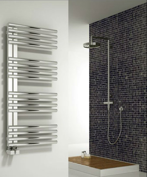 Alternate image of Reina Adora Polished Stainless Steel Radiator 500 x 800mm