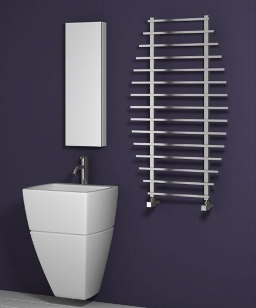 Alternate image of Reina Enna Polished Stainless Steel Designer Radiator 700 x 1200mm