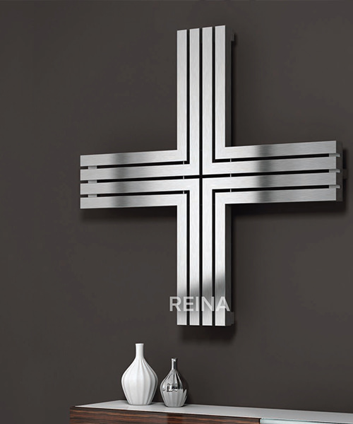 Alternate image of Reina Pozitive Stainless Steel Radiator 1000 x 1000mm