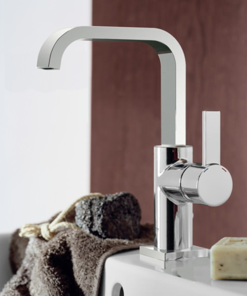 Additional image of Grohe Spa Allure Chrome U Spout Basin Mixer Tap With Pop-up Waste