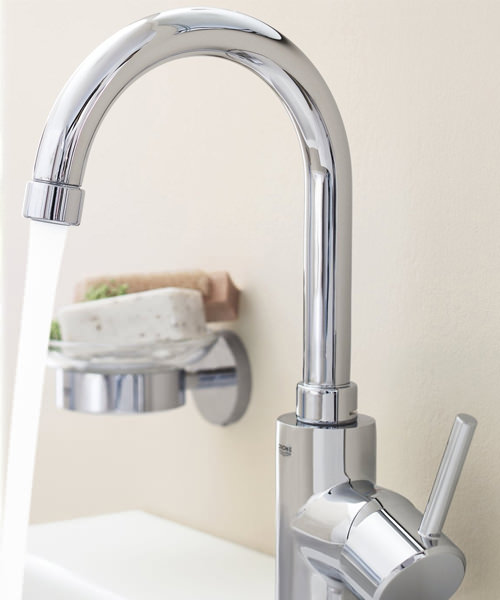 Additional image of Grohe Concetto High Spout Basin Mixer Tap With Pop Up Waste