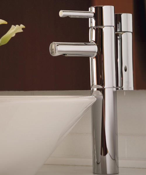 Additional image of Grohe Essence Basin Mixer Tap Chrome For Free Standing Basin