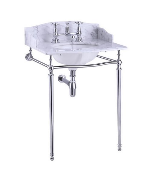 Additional image of Burlington Georgian Marble Basin And Chrome Wash Stand