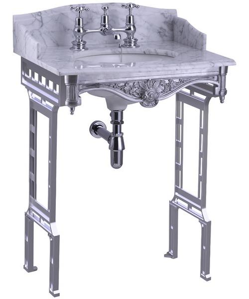 Additional image of Burlington Georgian Marble Basin And Brushed Aluminium Wash Stand