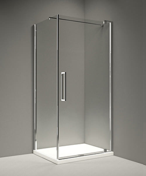 Additional image of Merlyn 10 Series Clear Glass Pivot Door 800mm