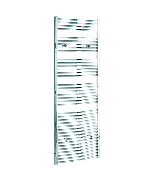 Tivolis Curved Heated Towel Rail 500 x 1800mm - Chrome