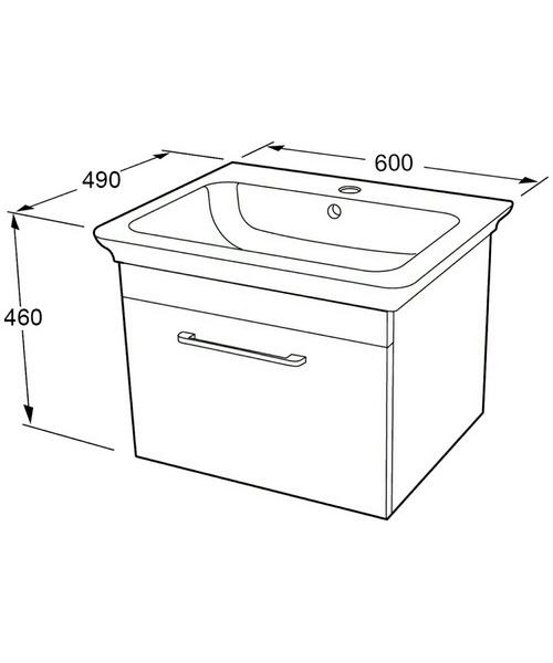 Technical drawing 46840 / FM2659-600WG