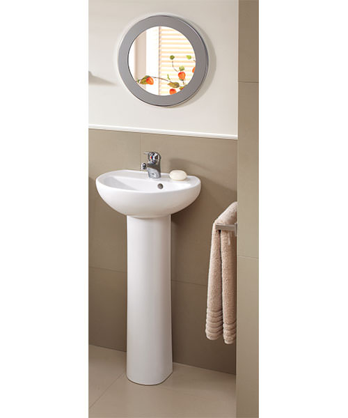 Additional image of Twyford Alcona Single Tap Hole 400 x 330mm Handrinse Bathroom Sink