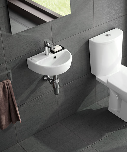 Twyford E100 Round 360 x 290mm Handrinse Washbasin