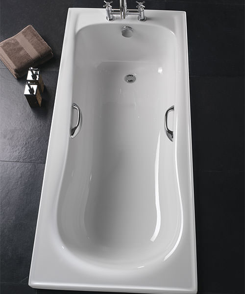 Additional image of Twyford Galerie Single Ended Acrylic Bath With Grips 1500 x 700mm