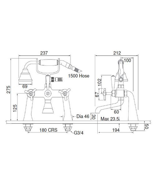 Technical drawing 21564 / TGRDC02