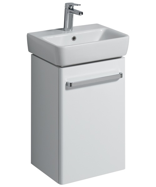 Twyford E200 400mm White Cabinet For 450mm 1 Or 2 Tap Hole Bathroom Sink