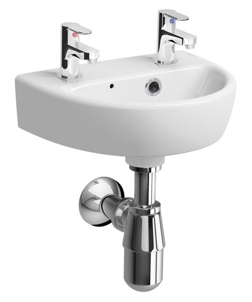 Additional image of Twyford E100 Round 360 x 290mm Handrinse Washbasin