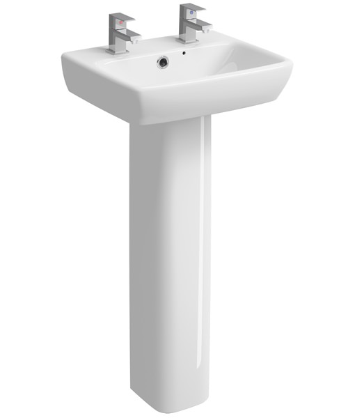 Alternate image of Twyford E100 450 x 350mm Square Handrinse Washbasin